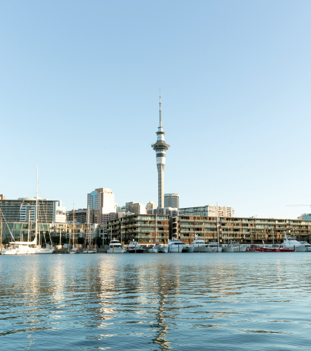 Auckland Harbour and SkyTower